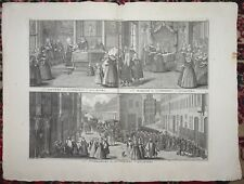 BERNARD PICART Engraving Removed From Ceremonies Et Coutumes Religieuses C1735 m