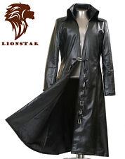 Unisex Newage Matrix Gothic Steampunk Vintage Military Edwardian Leather Coat
