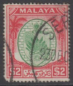 Negri Sembilan $2 Green & Scarlet SG61 Used Two Dollars 1949-55 Stamp Malaya