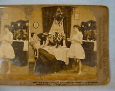 Stereoview Universal Art C H Graves How Bridget Served The Potatoes Undressed O