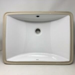 Axent L070-4101-U1 Milo  Square Undermount Bathroom Sink with Over Flow