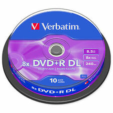 CD, DVD et Blu-ray Verbatim, 8,5 Go