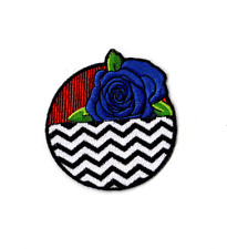 Twin Peaks Blue Rose Patch featuring The Red Room and Black Lodge.
