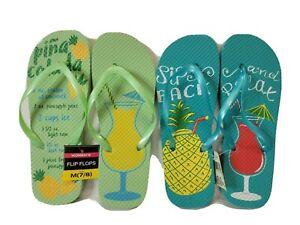 Womens Cushion Summer Comfort Thong Flat Flip Flops Sandals Slipper Size 7 8 New