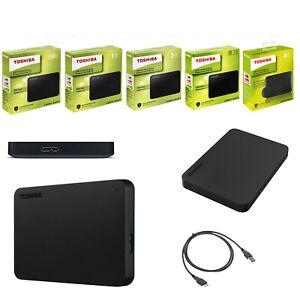 HARD DISK ESTERNO 2,5 USB 3.0 500GB-1TB-2TB-3TB-4TB TOSHIBA CANVIO BASIC NERO