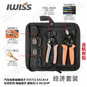 IWISS Crimping Tool Set SN-2549 FSA-0626 Pliers SN-48B SN-11011 Crimping Jaw