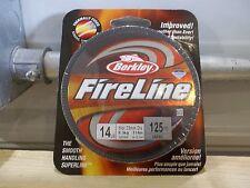 Berkley FireLine 14 lb 125 yards smoke