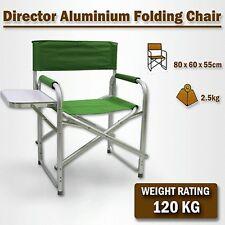 Directors Aluminium Folding Chair Camping Picnic Director Fishing Green w/Table