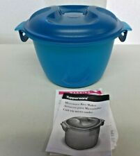 Tupperware Microwave Rice Maker NEW 2.2L Blue Steamer Cooker