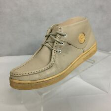 Vintage Clarks Original Wallabee Boot Sz 6.5 Beige Ankle Lace up Mens
