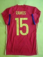 Sergio Ramos Spain Jersey 2016 Player Issue M Shirt Adizero Camiseta AA0854 ig93