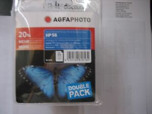 AGFA Foto Pacco Doppio C9502AE 2x HP NR.56 6656 AE Black 2x24ml Ovp Deskjet 5150