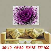 Unframed Modern Rose Canvas Wall Painting Pictures Print Home Decor Frameless
