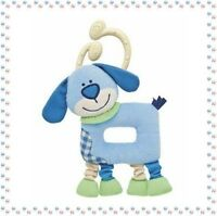 • - Doudou Plat Hochet Chien Bobby Chicco  Collection Les Rigolos'Formes