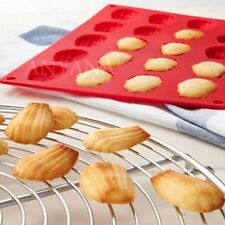 Silicone Mould Madeleine 20 Shell Pan Tray Sponge Cake Tin-Biscuits mold Jelly