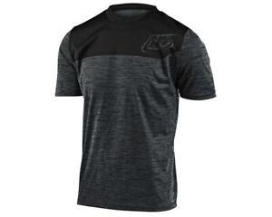 Troy Lee Designs Flowline Short Sleeve Jersey (Heather Black/Black)