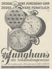 Y6737 JUNGHANS Taschenuhr - Pubblicità d'epoca - 1929 Old advertising