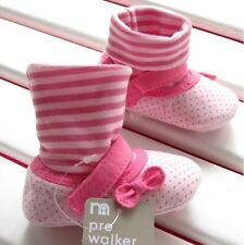 NEW Baby Girl Sock Booties Shoes in Pink Polka Dots **3-6 months** Size 2