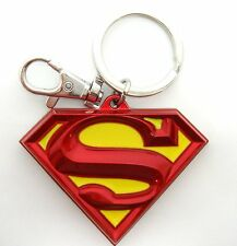 DC Comics Red & Yellow Metallic Superman Shield Logo Official Enamel Keychain