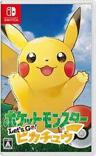 Nuevo Nintendo Switch Pokémon juego Let's Go Pikachu inglés chino japonés Lite