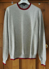 7 for all Mankind Pure Cashmere Marl Grey Crew Neck Jumper Size Medium £425