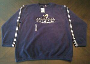 ST. LOUIS RAMS NFL Vintage Blue Fleece Sweatshirt Men's XL Long Sleeve Game Day