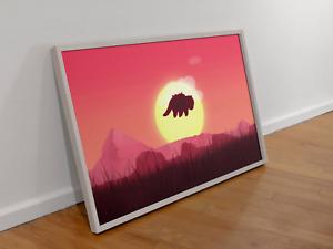 Avatar legend of Aang Poster Appa Wall Art premium print design Size A4 A3 A2