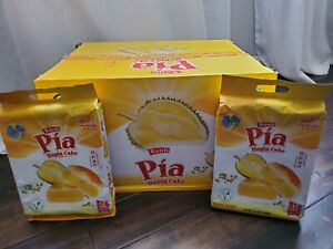 2 Pack  Banh Pia Hopia Cake Durian Mungbean Vegetarian Cake 16.8 oz  x24