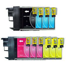 10 Drucker-Patronen für BROTHER MFC-250C MFC255CW MFC290C  MFC490CW LC980 LC1100
