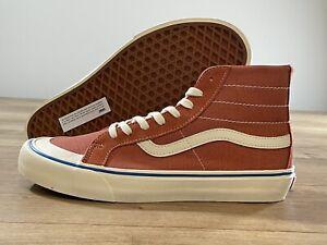 Vans SK8-Hi 138 Decon SF Skateboarding Shoes Orange/Wht Men's SZ 9 (VN0A3MV14UH)
