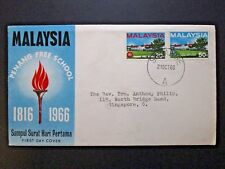 Malaya 1966 Panang Free School First Day Cover - Z3909