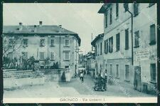 Como Colverde Gironico via Umberto I Moto COLLA cartolina QT4838