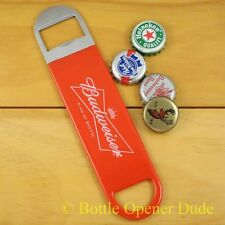 Budweiser Speed Bar Blade Opener, Vinyl Coated Open Your Bottles Like A Pro! NEW