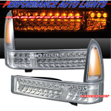 Set of Pair Chrome LED Signal Lights for 1999-2004 Ford SuperDuty and Excursion