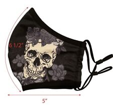 Face Mask With Skull Print