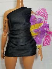 New Black Side Shoulder Dress Lbd ~ Barbie Clothes Fashionistas Fashion Curvy