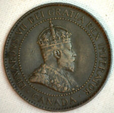 1904 Copper Canadian Large Cent Coin 1-Cent Canada VF #8