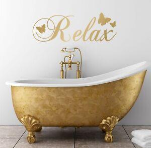Relax Wall Quote Decal Sticker Bathroom Bedroom Words Adhesive DIY Vinyl