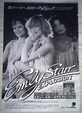 EMLY STARR EXPLOSION - Japan article 1982 clipping magazine (EUROVISION) - LUV'