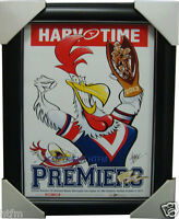 Sydney Roosters 2013 Premiers Harv Time Limited Edition Print Framed NRL