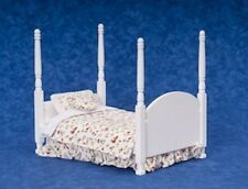 Dolls house Miniature Tester Double Bed. Bedroom Furniture 1/12 scale