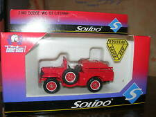 SOLIDO 1/50 METAL POMPIER DODGE 4X4 WC51 CITERNE 2140!!