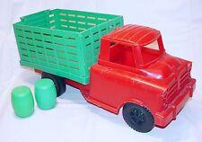 LUXOR Eurotoys DODGE COE OPEN TRANSPORT TRUCK 1959 Plastic Big Size NM`65 RARE!