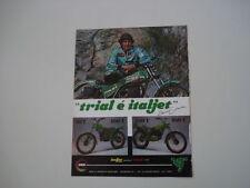 advertising Pubblicità 1981 ITALJET TRIAL 50/100/250 T