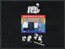 More details for chad 2018 mnh pink floyd rock band 1v impf m/s music famous people stamps