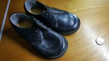 vintage black leather baby shoes