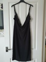 Black misguided dress size 14