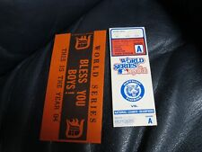 1984 World Series Ticket 1 Detroit Tigers San Diego Padres VG and Parking Pass