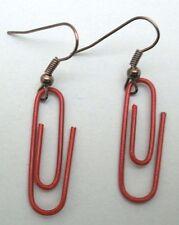 Boucles d'oreilles trombone rouge