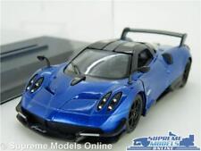 PAGANI HUAYRA MODEL CAR 1:38 SCALE BLUE + DISPLAY CASE SPORTS KINSMART 2016 K8